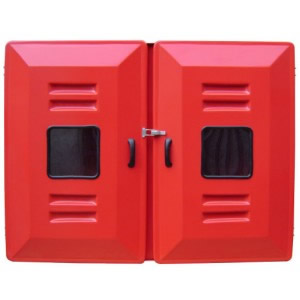 """Abrigo para Mangueira Interno/Externo - Fibra - (A)90 x (L)100 x (P)30 - 2 portas - Comporta 4 mang 15 mts 1 1/2"""""""