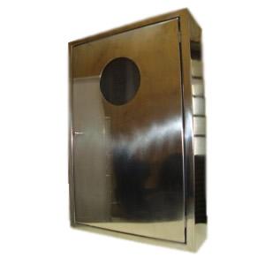Abrigo para Mangueira Aço Inox - C/ 1 Porta com Visor de Acrílico - 90 x 60 x 17 cm - Embutir