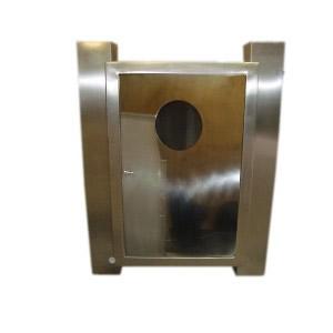 Abrigo para Mangueira Aço Inox - C/ 1 Porta com Visor de Acrílico - 90 x 60 x 17 cm - Externo