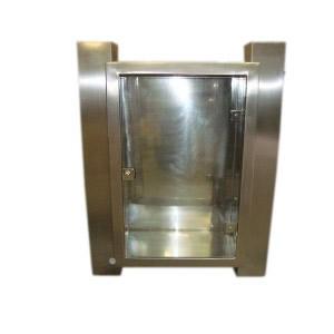 Abrigo para Mangueira Aço Inox - C/ 1 Porta de Vidro 8mm - 90 x 60 x 17 cm - Externo