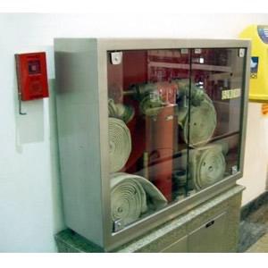 Abrigo para Mangueira Aço Inox - C/ 2 Portas de Vidro ou Visor em Acrílico - 120 x 90 x 17 cm - Embutir/Sobrepor