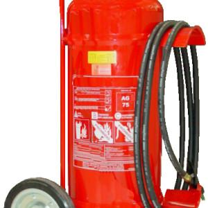Extintor de Incêndio Sobre Rodas de Água press.  75 lts