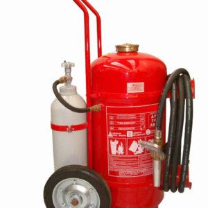 Extintor de Incêndio Sobre Rodas Pó Químico 50kg - ABC