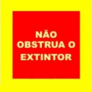 Adesivo Demarcação de Solo Extintor 100 x 100 cm - Não Obstrua o Extintor