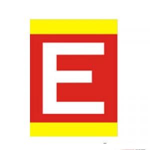Placa de Coluna - Extintor (E) - Medida: 30 x 45 cm