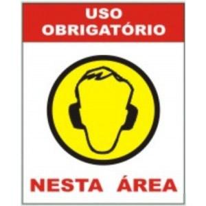 Placa Uso Obrigatório de Protetor Auricular